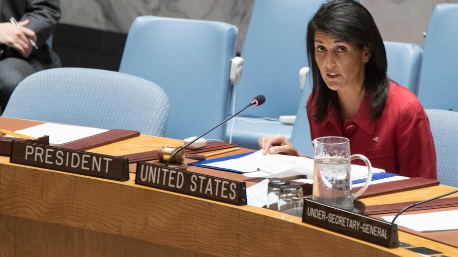 La embajadora de EEUU ante al ONU, Nikki Haley.