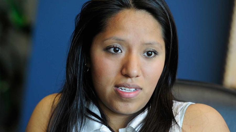 La 'dreamer' Jessica Colotl, estudiante de Kennesaw State University, en una entrevista en la oficina de su abogado en Atlanta en el año 2011