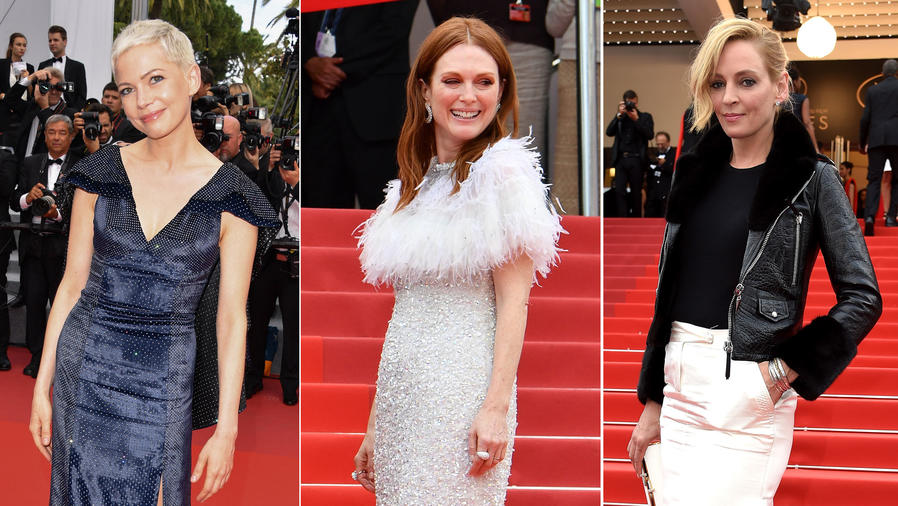 Michelle Williams, Julianne Moore y Uma Thurman en Cannes 2017