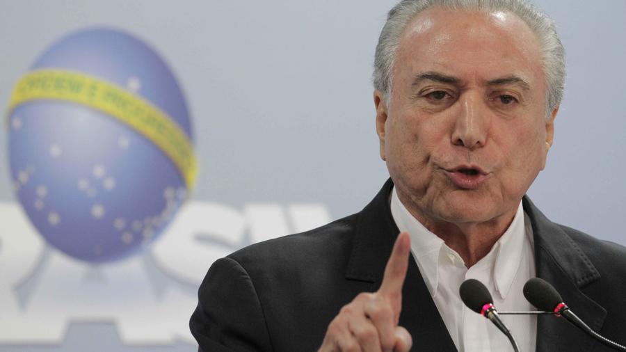 Presidente de Brasil, Michel Temer, en declaraciones antes la prensa