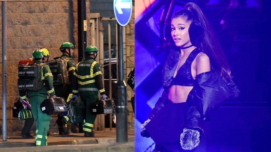 Ariana Grande en el concierto de Manchester