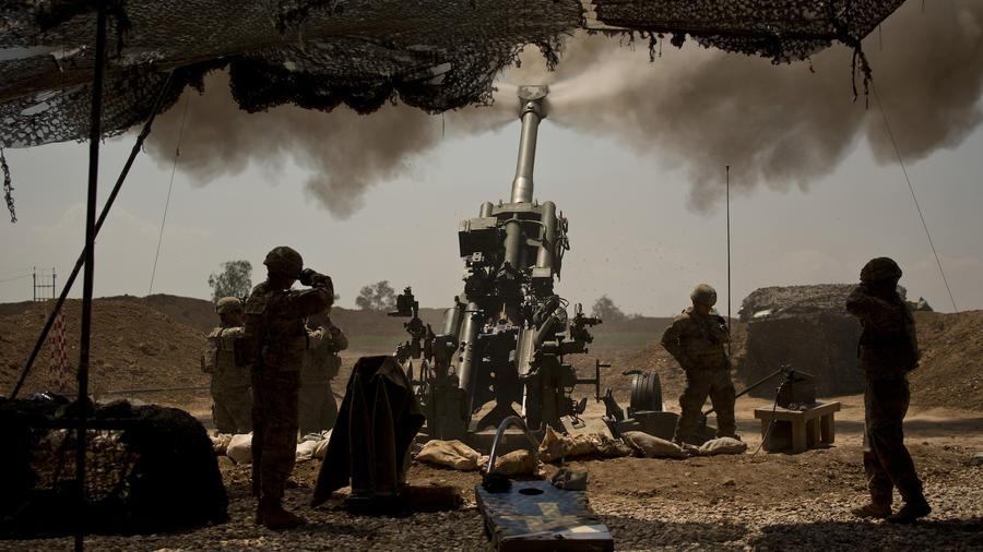Tropas estadounidenses en Mosul el pasado abril.