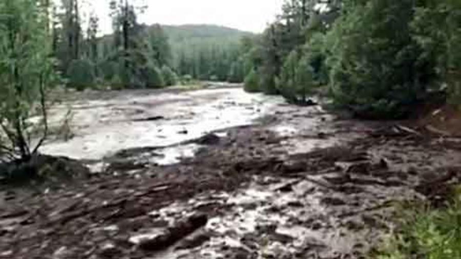 Inundaciones en un cañón de Arizona