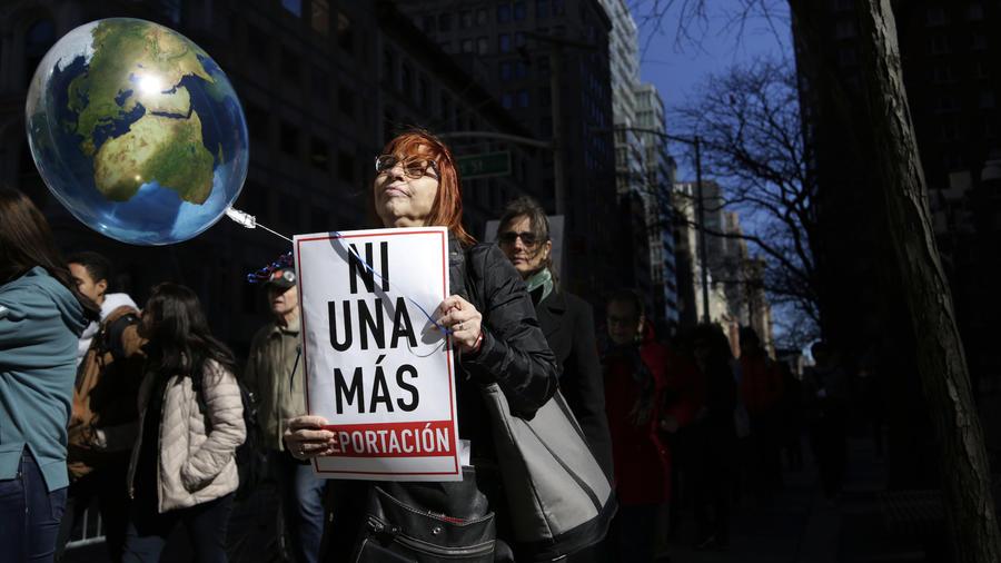 Protesta ante la sede de ICE en Nueva York el pasado marzo.
