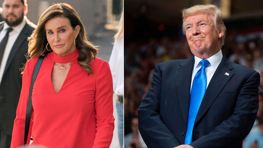 Collage Caitlyn Jenner y Donald Trump