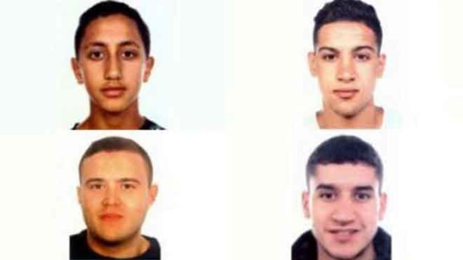 Sospechosos que habrían participado en atentados en Cataluña