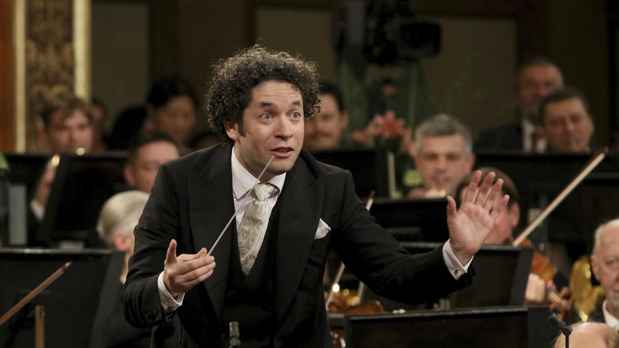 Dudamel, durante el pasado concierto de Año Nueva en Viena.