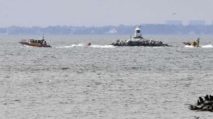 Varios barcos participaron en la búsqueda de la periodista desaparecida Kim Wall