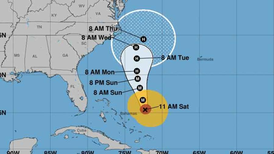 Mapa del huracán María ya en aguas abiertas del Atlántico