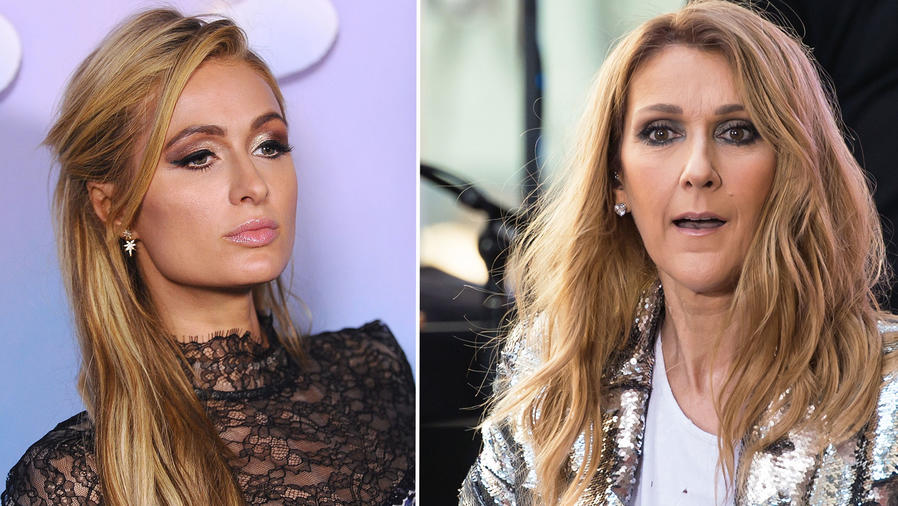 Collage Paris Hilton y Celine Dion