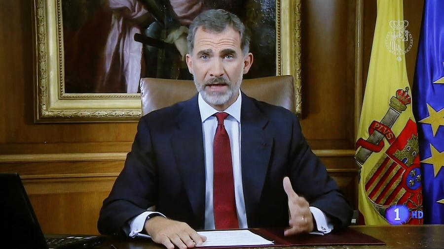 El rey de España, durante su discurso de este martes.
