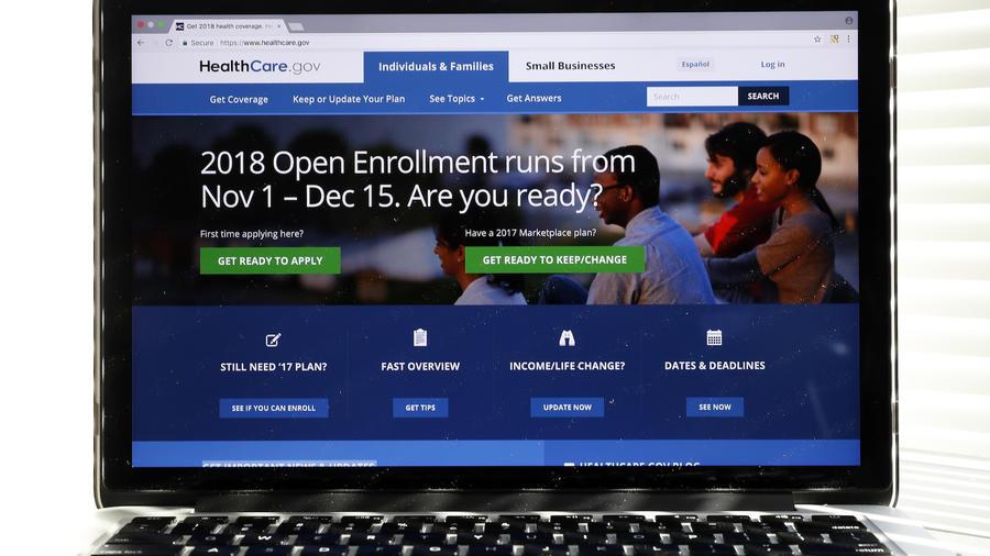 Página de Internet de Healthcare.gov el pasado 18 de octubre.