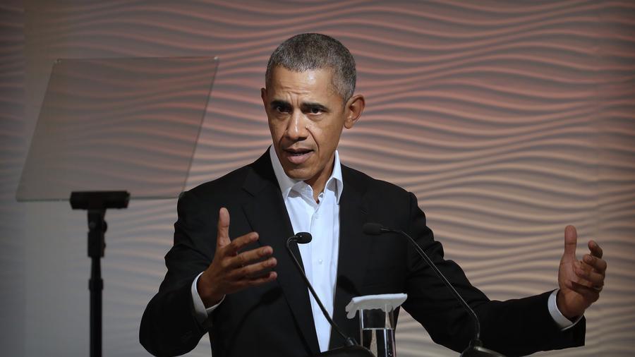 El expresidente de EEUU, Barack Obama, en Nueva Delhi.