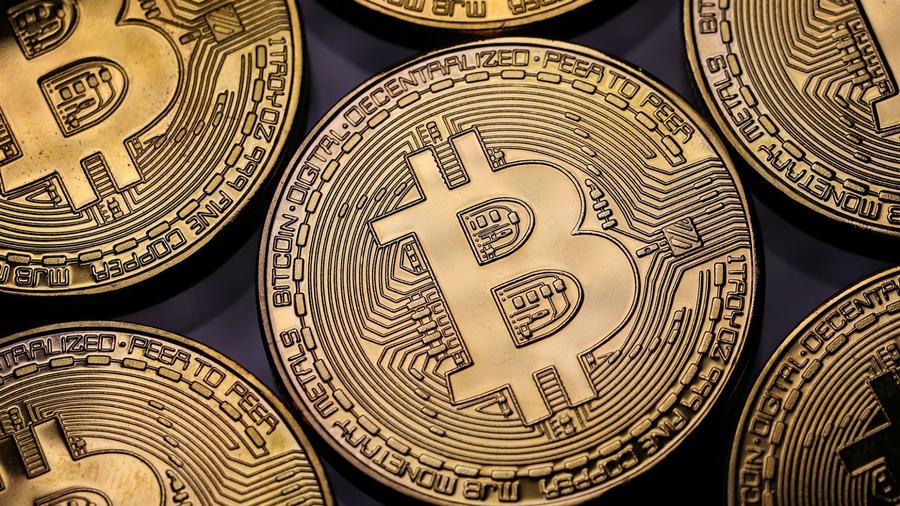 El logo de la criptomoneda Bitcoin.