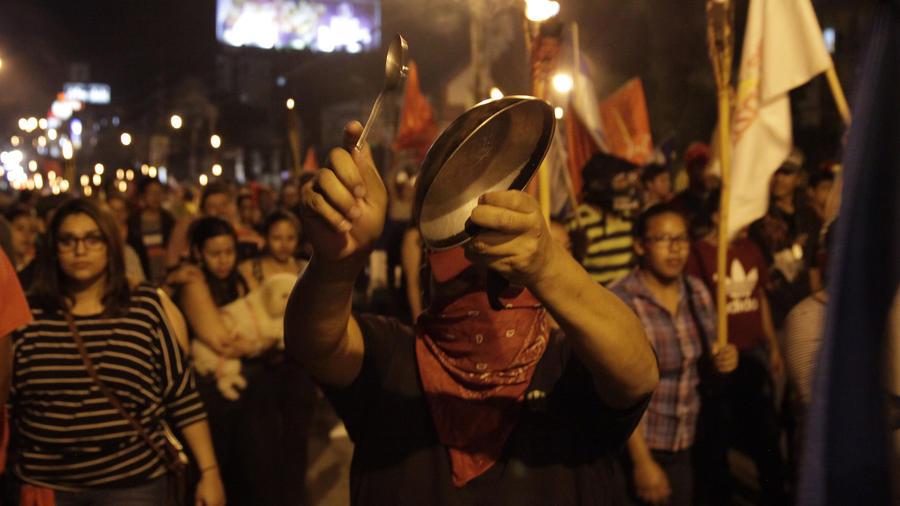 Una protesta opositora el 8 de diciembre en Tegucigalpa.