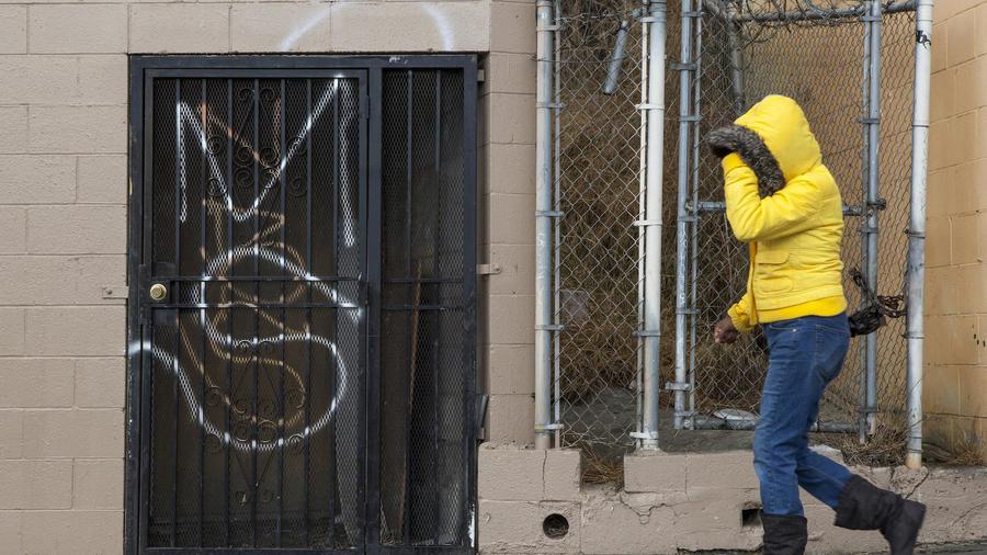 Un graffiti de la MS-13 en Los Ángeles en 2012.