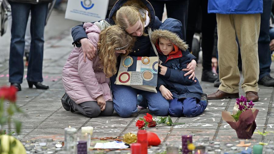 Homenaje a las víctimas del atentado de Bruselas en marzo de 2016.