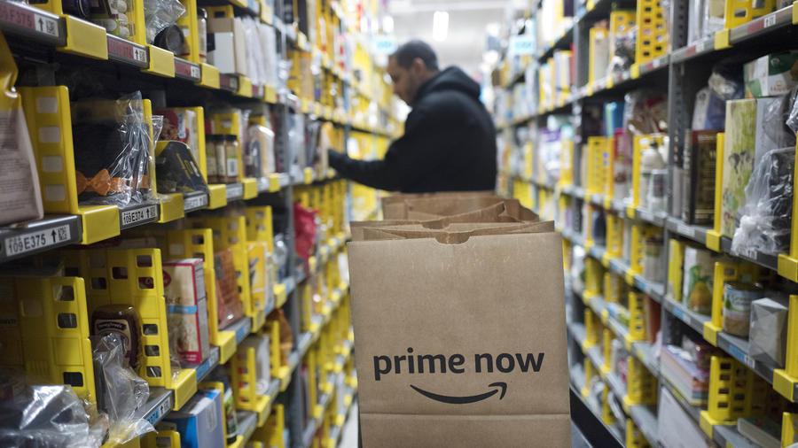 Las labores en un almacén de Amazon Prime en Nueva York el 20 de diciembre del 2017.