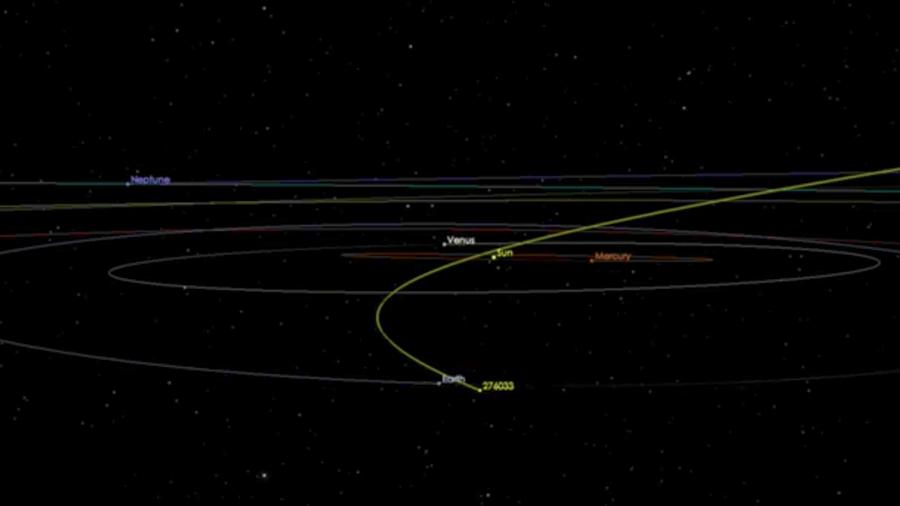 Trayectoria del asteroide que se acercará a la Tierra el 4 de febrero de 2018.