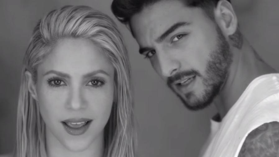 Shakira con Maluma en el video de Trap