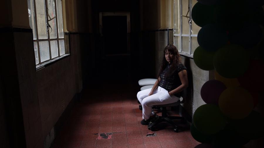 La trabajadora sexual Suspiros, en enero en la Ciudad de México.