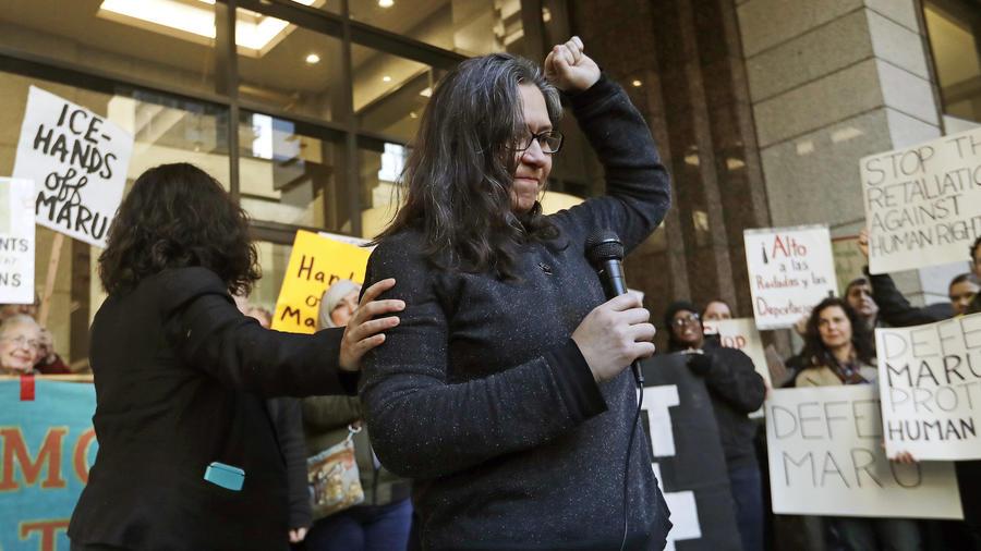 Maru MorMaru Mora-Villalpando, el viernes tras anunciar que se enfrenta a ser deportada por ICE. a-Villalpando