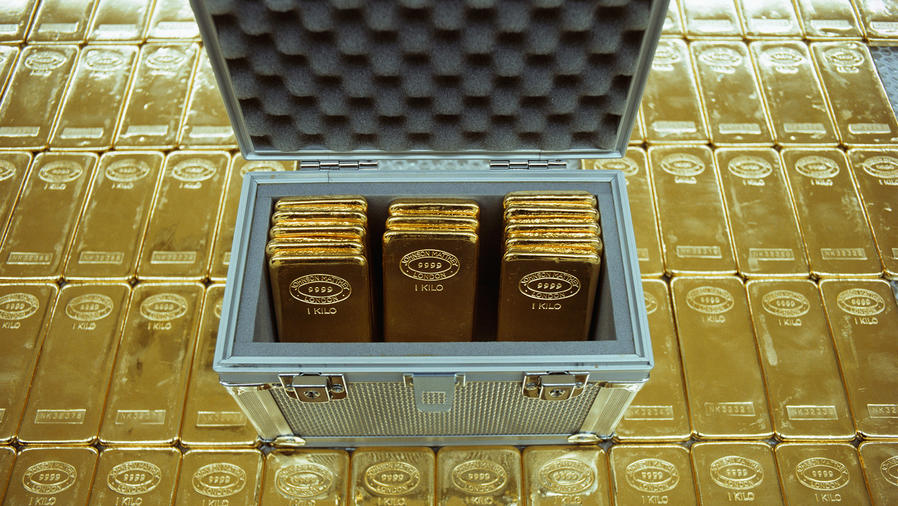 Oro lingotes