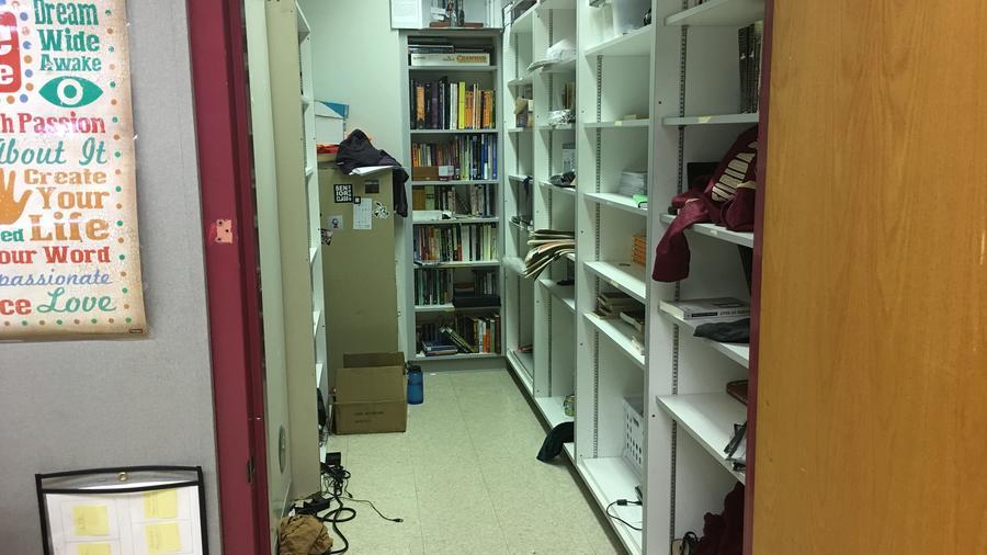 Armario donde la maestra Melissa Falkowski refugió a 19 alumnos durante la matanza de Parkland (Florida).