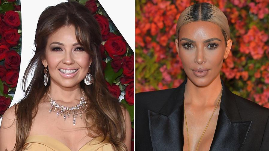 Thalía y Kim Kardashian