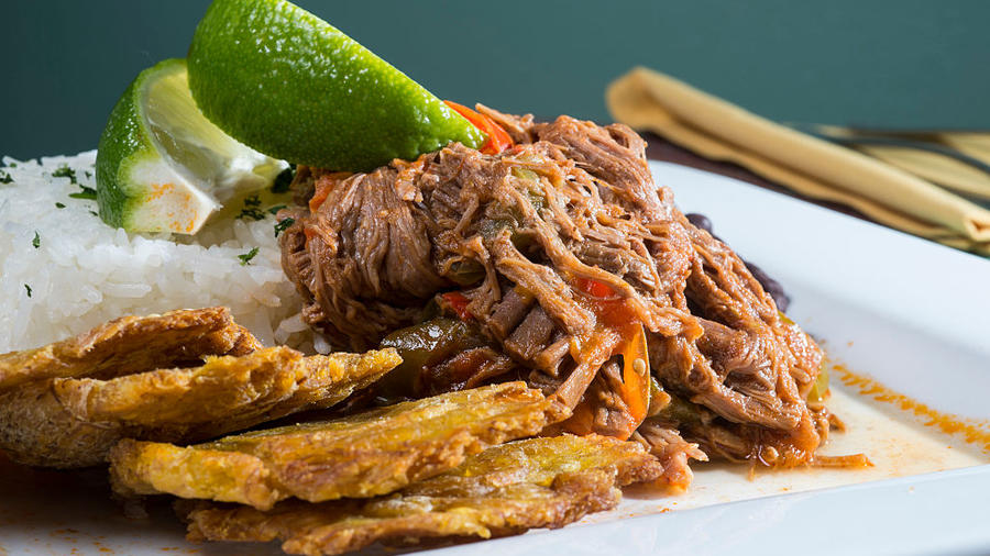 Ropa vieja on a pressure cooker is easy and delicious