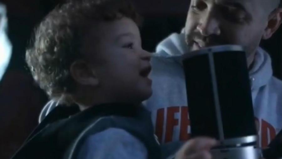 Nacho con su hijo menor