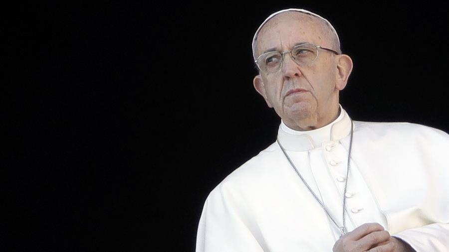 El Papa Francisco, en el balcón de la Basílica de San Pedro, en el Vaticano, 25 de diciembte de 2017.