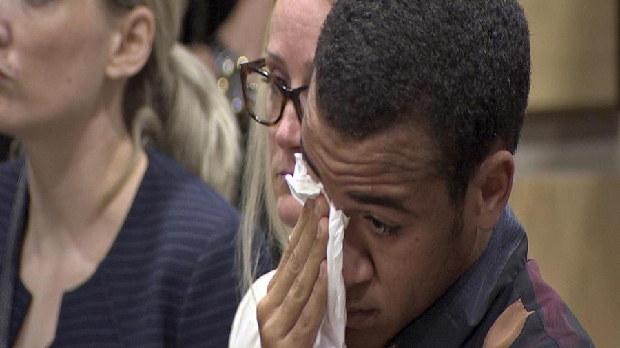 Zachary Cruz, el 14 de marzo durante la vista judicial de su hermano Nikolas.