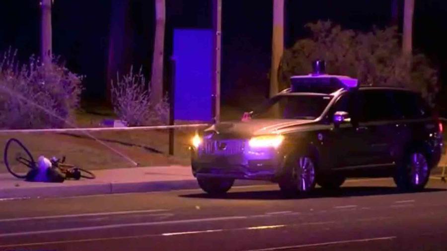 Uber autónomo en accidente
