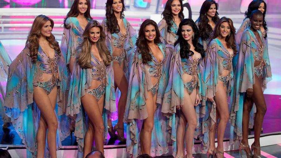 Concursantes de Miss Venezuela, en una imagen de archivo de 2014.