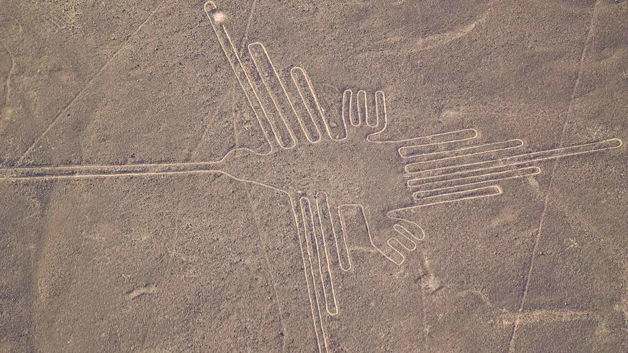 Vista aérea de las líneas de Nazca