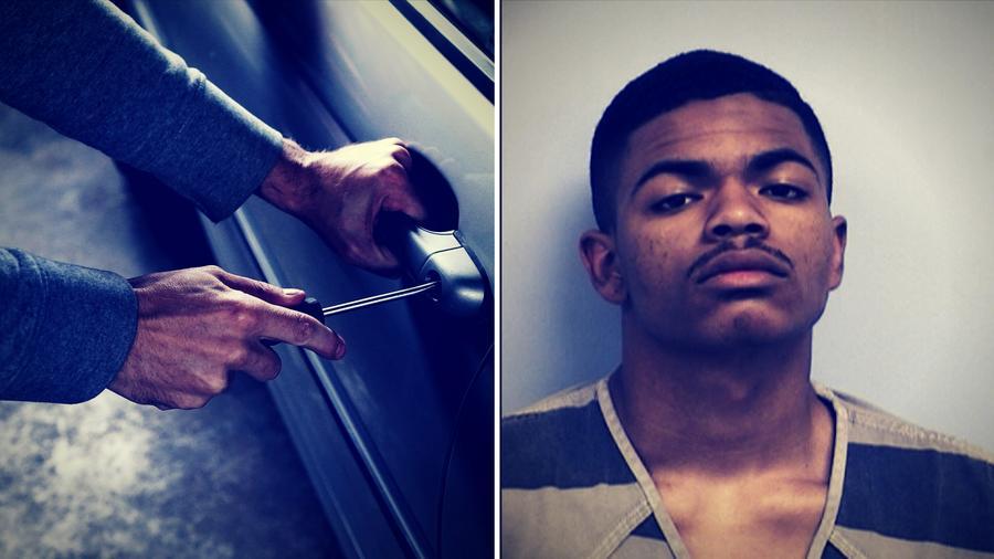 El joven de 18 años también admitió haber robado la pistola de un policía y otros objetos de una patrulla.