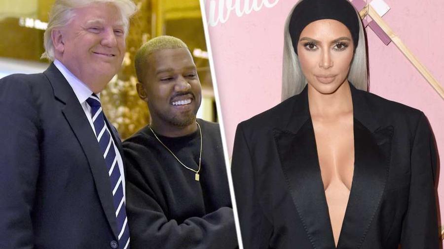 Kim Kardashian, Kanye West y Donald Trump