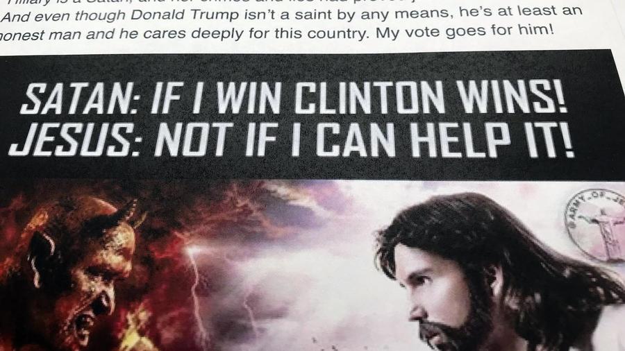 Imagen de uno de los anuncios comprados a Facebook por Rusia, fotografiada en Washington el 16 de febrero de 2016.