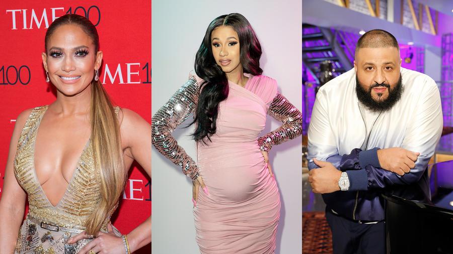 JLo, Cardi B and DJ Khaled