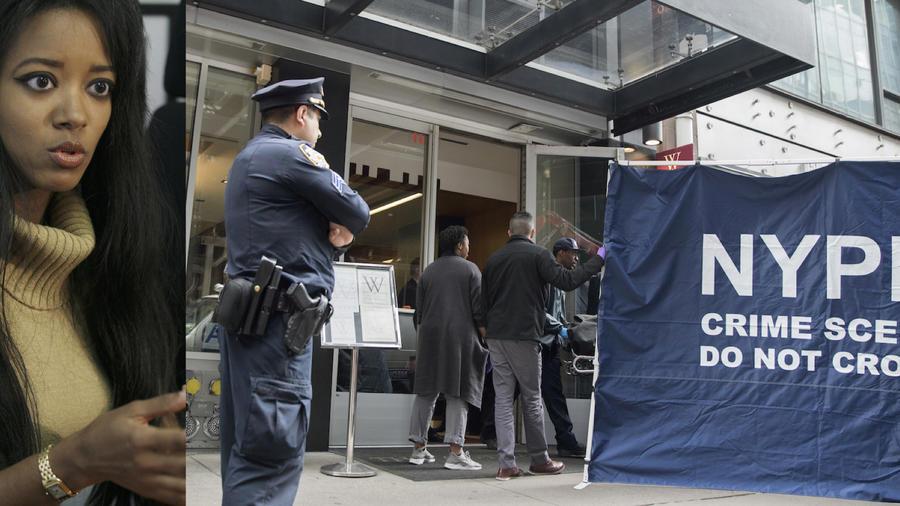 Stephanie Adams, en 2006. A la derecha, el lugar del incidente hoy.