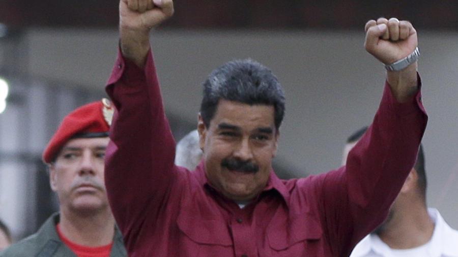 Nicolas Maduro, tras votar este domingo en Caracas.