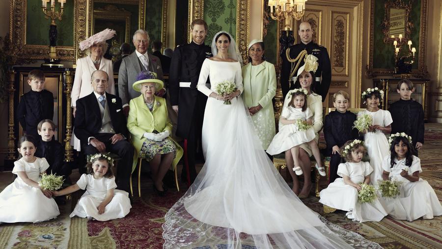 boda real, foto familiar