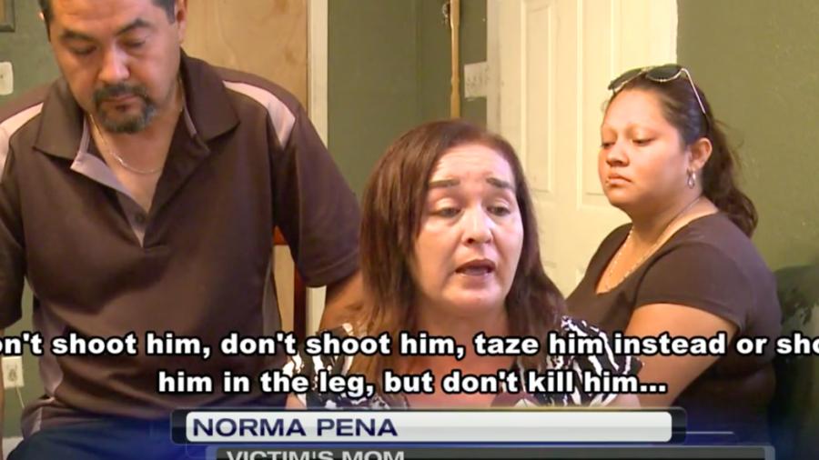 Norma Peña, madre de la víctima.