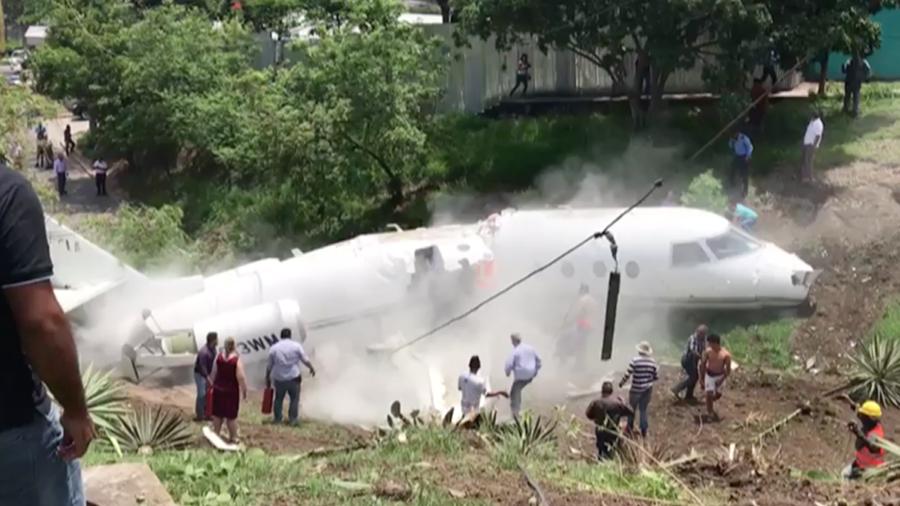 Un avión privado accidentado en Tegucigalpa el 22 de mayo de 2018
