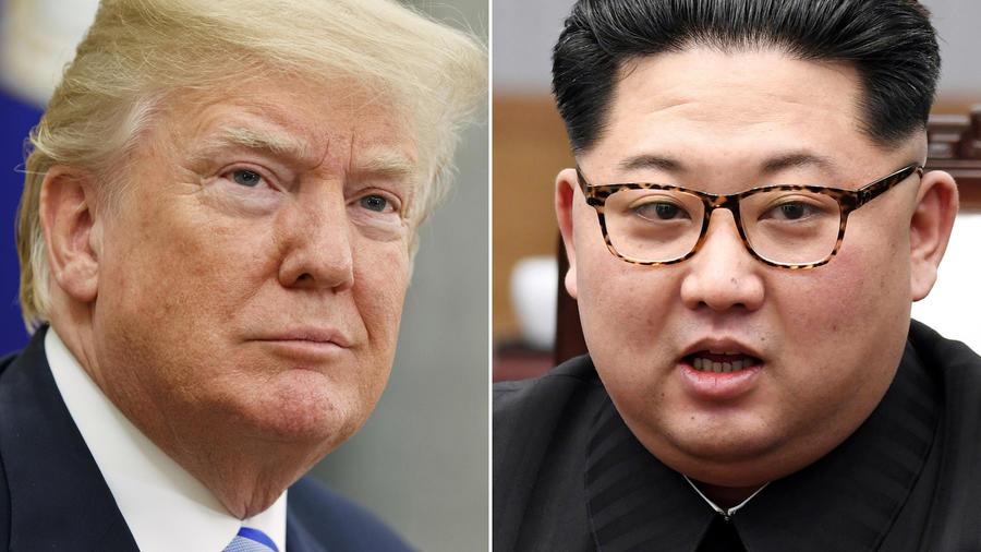 Fotos de archivo del presidente, Donald Trump, en la Casa Blanca el 16 de mayo de 2018, y del líder de Corea del Norte, Kim Jon Un, sin fechar.