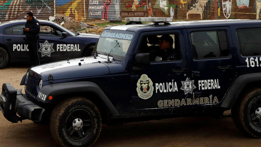 Policía de México en la frontera en una imagen de archivo