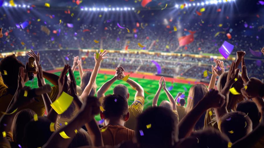 Estadio de fútbol repleto