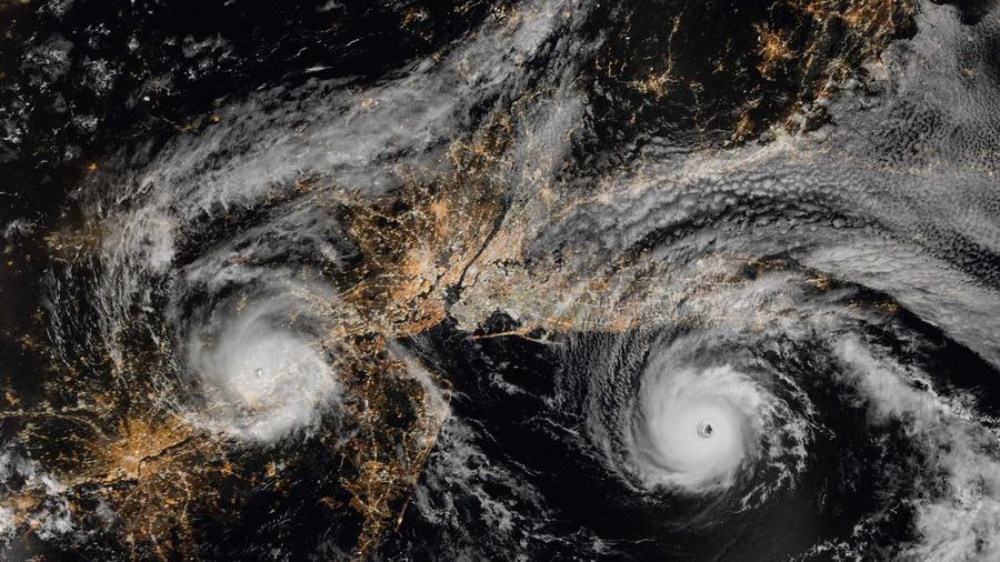 Huracanes vistos desde arriba
