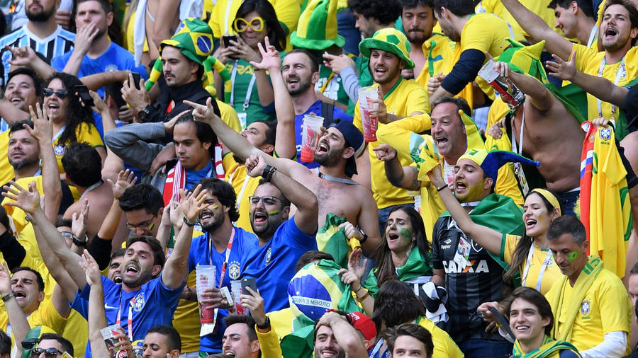 Hinchas brasileños